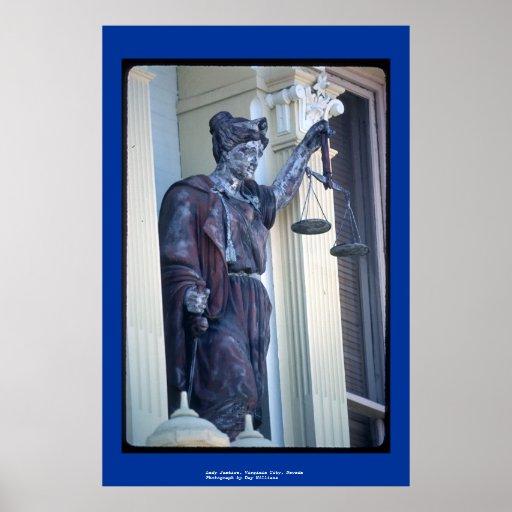Lady Justice, Virginia City, Nevada Poster