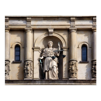 Lady Justice with Sword and Scale Postcard