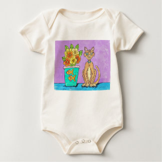 Lady Kitten and Flowers infant creeper