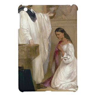 Lady kneels before priest iPad mini cover
