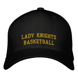 Lady Knights Basketball Embroidered Baseball Cap