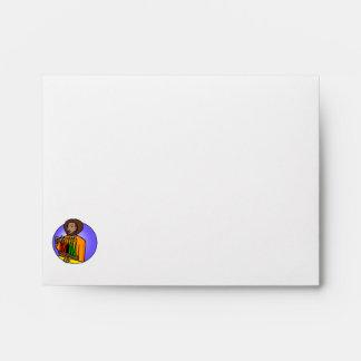 Lady Kwanzaa Candles Envelopes