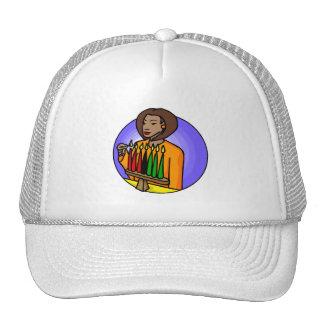 Lady Kwanzaa Candles Trucker Hats