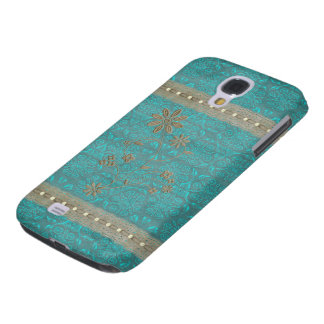 Lady Lace & Pearls Vintage Print HTC Vivid Touch Galaxy S4 Case