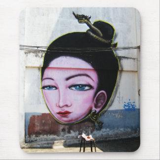Lady Lao Graffiti Street Art Mouse Pad