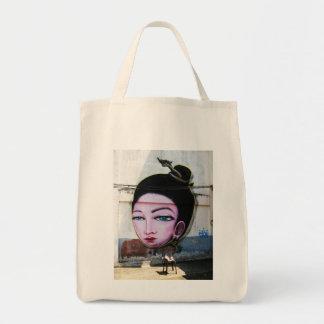 Lady Lao Graffiti Street Art Tote Bag