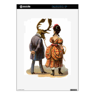 Lady Leading Her Elk-man Skins For iPad 2