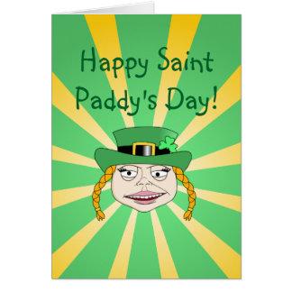 Lady Leprechaun - Happy St. Paddy's Card