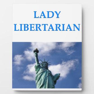 lady libertarian photo plaque