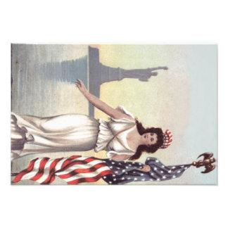 Lady Liberty American Flag Statue of Liberty Photo Print