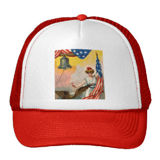 Lady Liberty and American Flag Trucker Hat