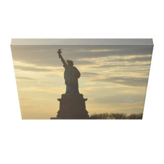 Lady Liberty at Sunset Canvas Print