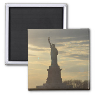 Lady Liberty at Sunset Magnet