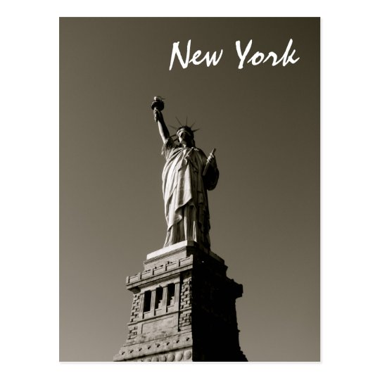 Lady Liberty (B&W) Postcard