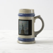 Lady Liberty Beer Stein