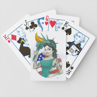 Lady Liberty Bicycle Playing Cards
