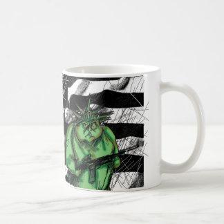 lady liberty classic white coffee mug