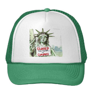 Lady Liberty Closed For Repair Of Congress Funny Trucker Hat