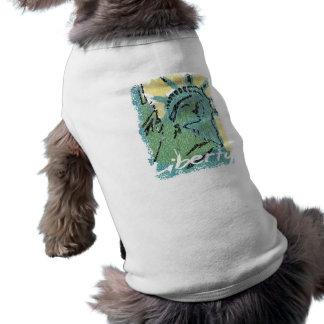 Lady Liberty Distressed Dog Tee