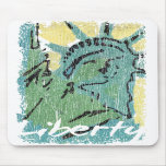 Lady Liberty Distressed Mouse Pads