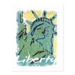 Lady Liberty Distressed Postcard