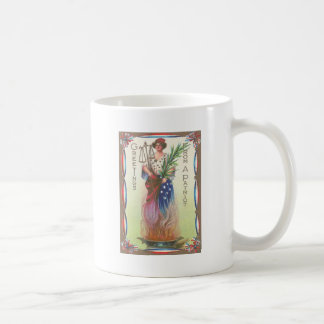 Lady Liberty Eternal Flame Scales of Justice Coffee Mug