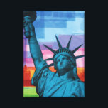 "Lady Liberty Fine Art Print<br><div class=""desc"">This reproduction of Ralph Michael Brekan&#39;s &quot;plastic collage&quot; entitled &quot;Lady Liberty&quot; will put a patriotic smile on hippies and warmongers alike. Get your high quality reproduction of Brekan&#39;s most famous work to date!</div>"