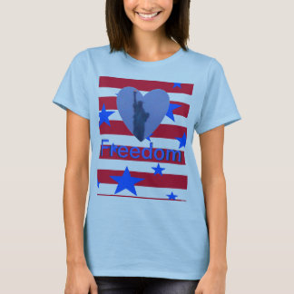 Lady Liberty Free Heart Tshirt 2 Freedom Torch
