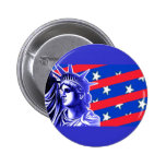 Lady Liberty in Patriotic Colors Products Buttons