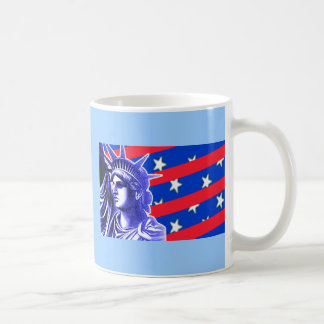 Lady Liberty in Patriotic Colors Products Coffee Mug