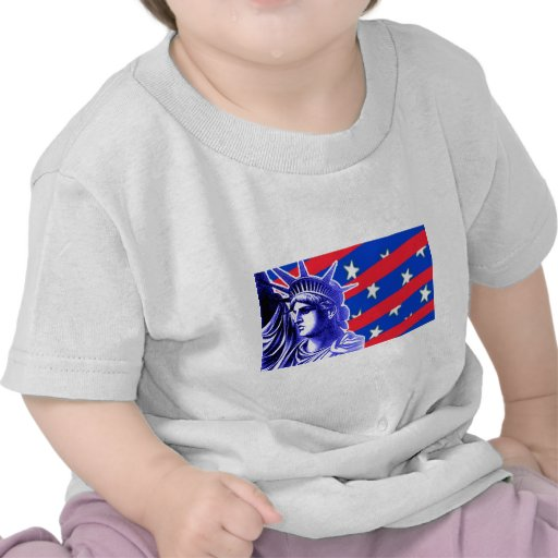 Lady Liberty in Patriotic Colors Products T-shirt
