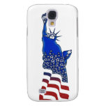 Lady  Liberty in red, white and blue Samsung Galaxy S4 Covers