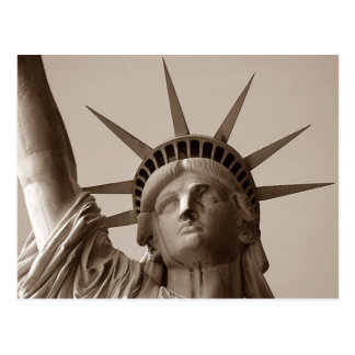 Lady Liberty in Sepia Statue Of Liberty NYC NY PC Postcard