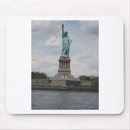 Lady Liberty in the Harbor Mouse Pads