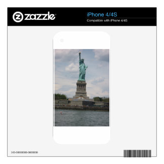 Lady Liberty in the Harbor Decal For iPhone 4S