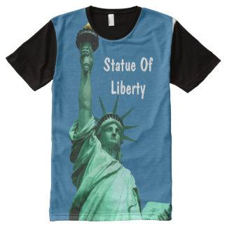 Lady Liberty Landmark All-Over Print T-shirt