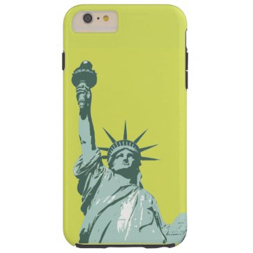 USA Themed Lady Liberty Lime Green Phone Case