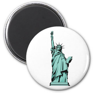 Lady Liberty 2 Inch Round Magnet