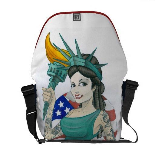 """Lady Liberty"" Messenger Bags"