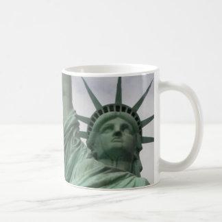 Lady Liberty New York Classic White Coffee Mug