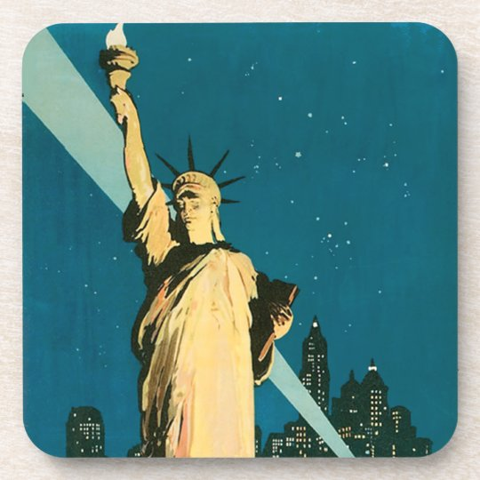 Lady Liberty New York Cork Coasters