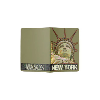 Lady Liberty New York Personalized with Name Passport Holder