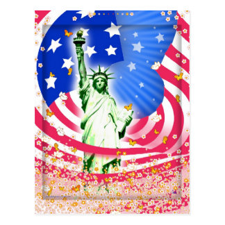 Lady Liberty, New York Postcard