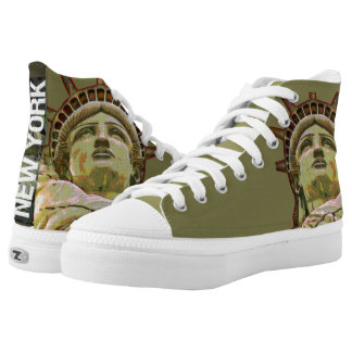 Lady Liberty New York Printed Shoes