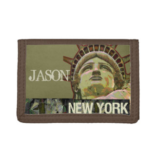 Lady Liberty New York Trifold Wallets