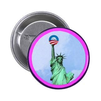 Lady Liberty Obama 2012 Pin