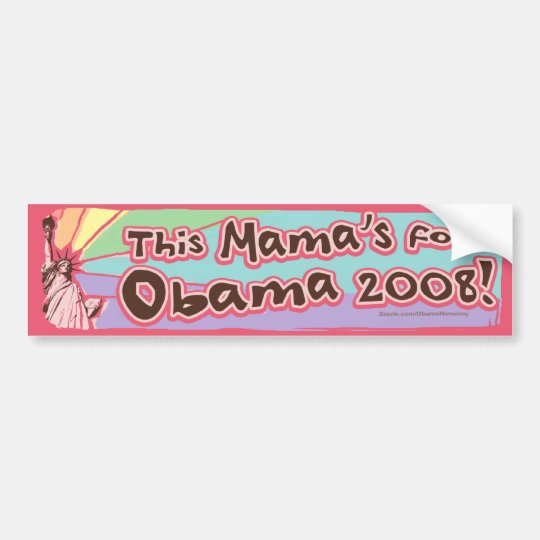 Lady Liberty Obama Mama Bumper Sticker