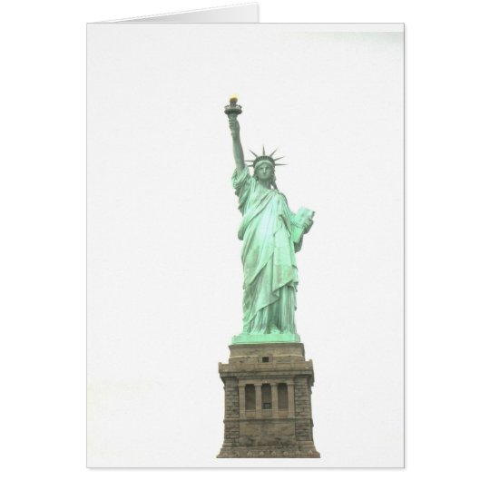 Lady Liberty on her Pedastal New York Card