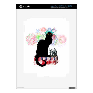 Lady Liberty - Patriotic Le Chat Noir Decals For iPad 3