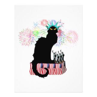 Lady Liberty - Patriotic Le Chat Noir Flyer